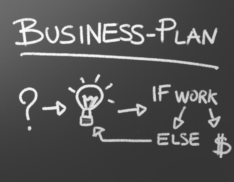 Plan de negocios pizarra