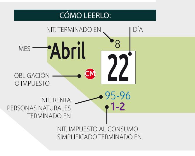 Como leer calendario tributario 2014