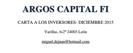 Argos capital fi diciembre