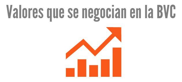 Principales valores que se negocian en la bolsa de valores de colombia