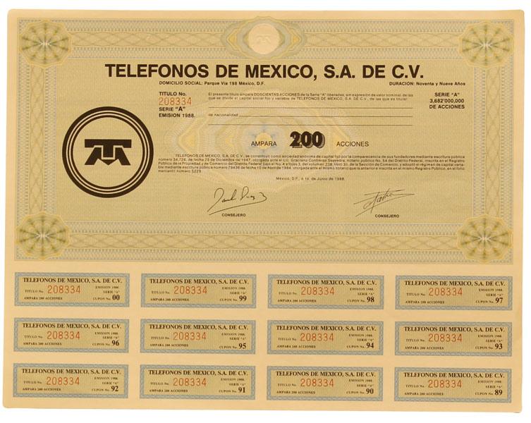 Acciones telmex 08