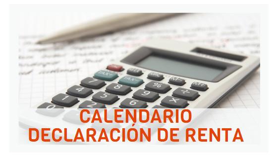 Calendario declaracion de renta