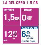 Tarifa Del Cero 1.5GB Promoción