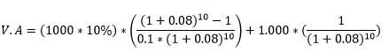 ¿Cómo calcular el valor de un bono? Cupón emitido sobre la par