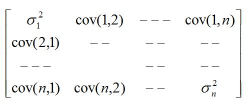 Como usar markovitz en los fondos de pensiones, matriz covarianza