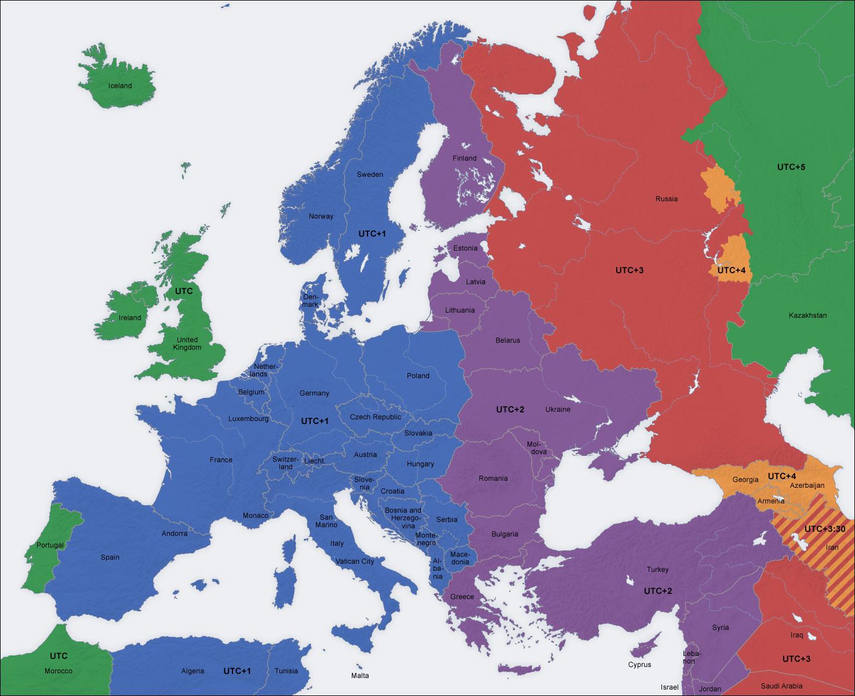 Husos horarios Europa
