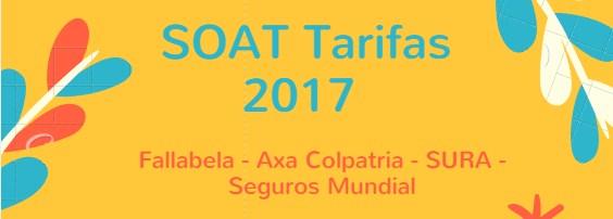 SOAT Tarifas 2017: Falabella, Axa Colpatria, SURA y Seguros Mundial