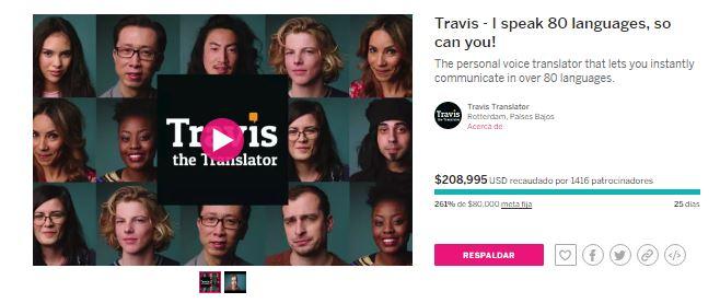 Campaña de crowdfunding de Travis el traductor