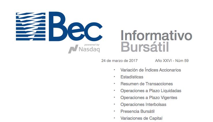 Bolsa electrónica de Chile: Boletines informativos