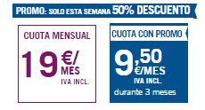 Tarifa Del Cero 5 GB Promoción al 50% de descuento