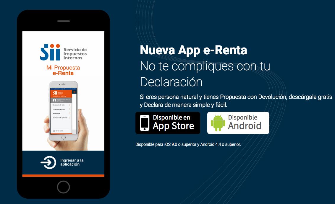 Declaración de impuestos a la renta: nueva app e-Renta