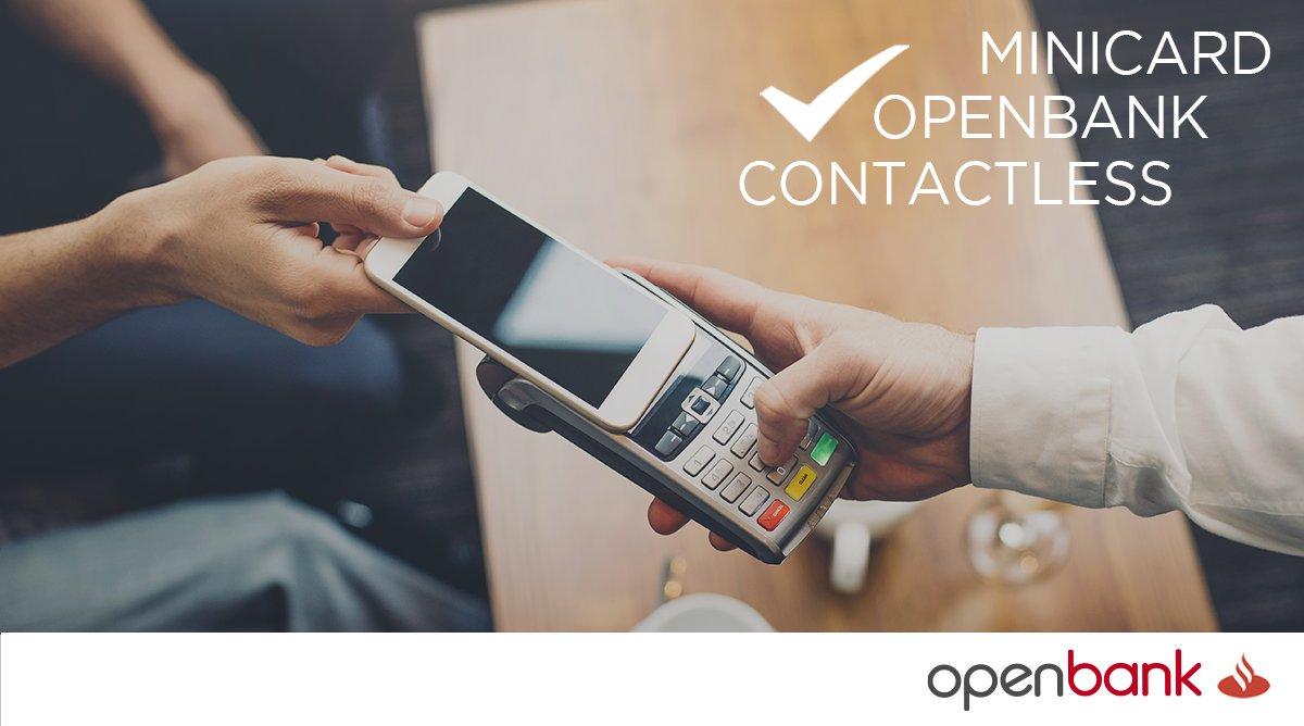 MiniCard Openbank Contactless para realizar tus pagos con el móvil
