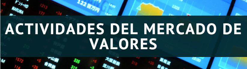 Actividades del mercado de valores
