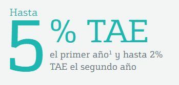 La cuenta nómina de Bankinter remunera al 5% TAE el primer año