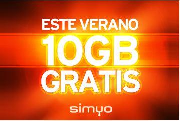 Promoción 10GB de regalo Simyo