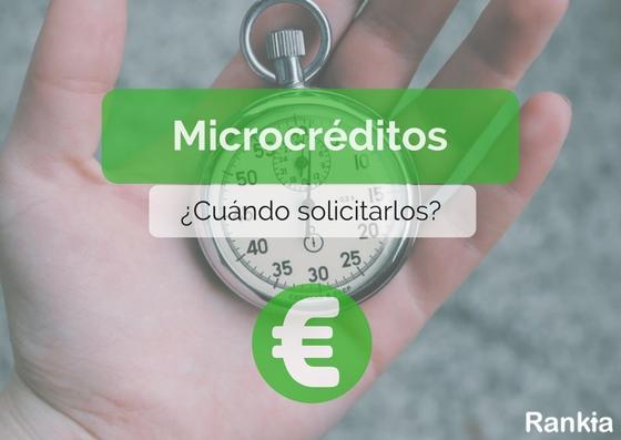 Microcréditos: ¿Cuando solicitarlos?