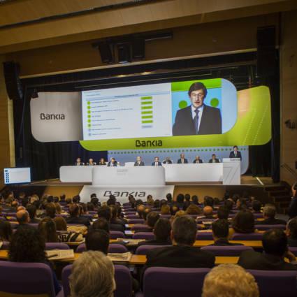 Junta de Accionistas de Bankia que acuerda el contrasplit