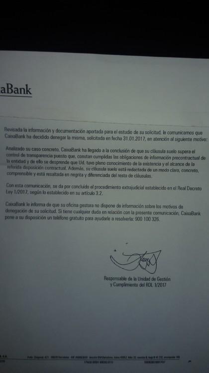 A alguien le ha contestado cajasol caixabank 13 27 for Clausula suelo caixabank