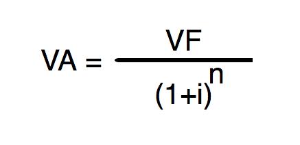 fórmula valor presente