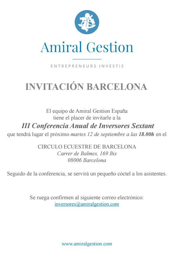 Amiral Gestion, Conferencia Anual con Inversores Sextant en Barcelona