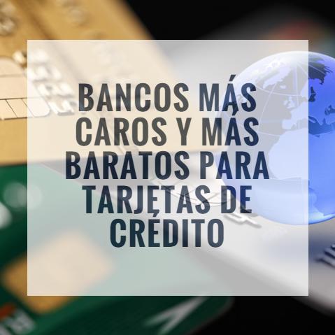 Bancos tarjetas de credito