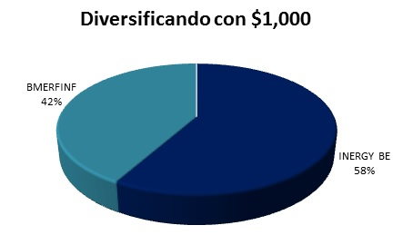 Diversificando con mil pesos