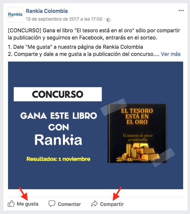 """Concurso libro """"El tesoro está en el oro"""""""