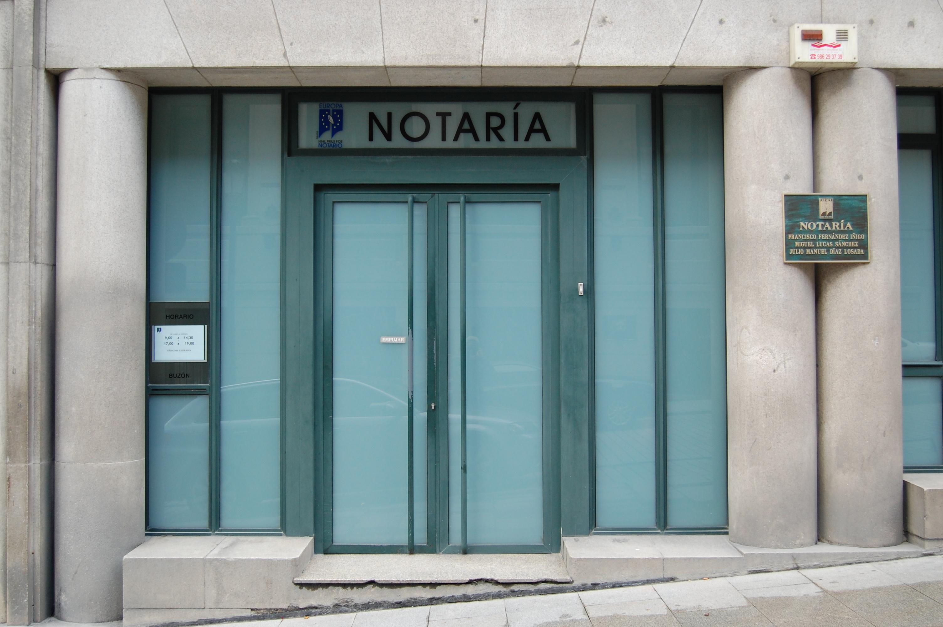 Aranceles notariales