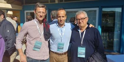 Alejandro Ortola, Antonio Aspas y Enrique Roca