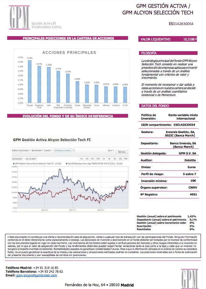 fa3edc554 Informe del mes de octubre y principales acciones en cartera del ...
