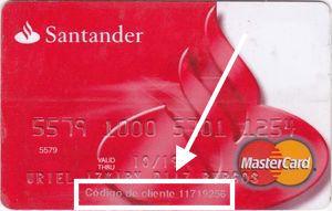 Santander Código cliente