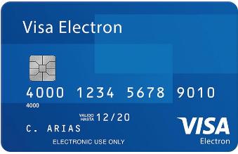 Tarjetade débito Visa Electron