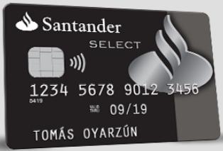 Tarjeta de débito Santander Select