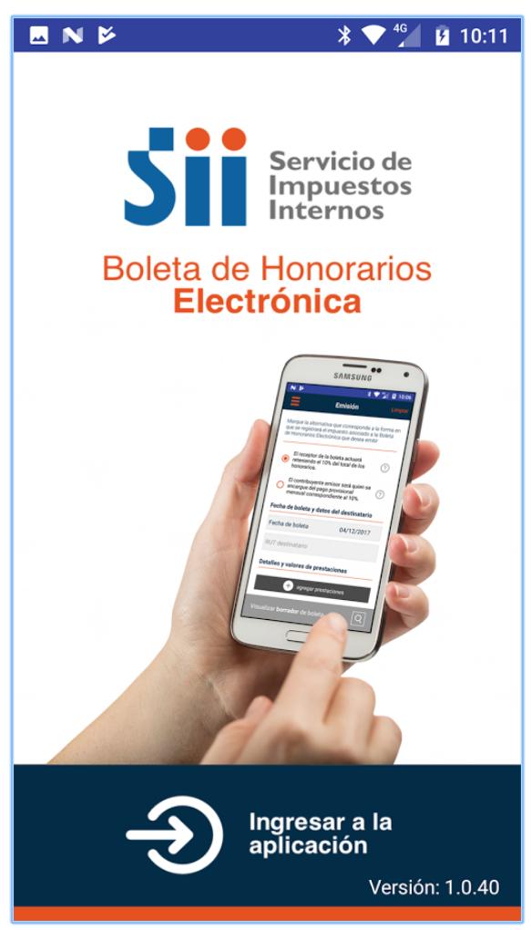 ¿Cómo se puede utilizar la App e-Boleta? Entrada