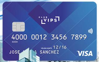 Tarjeta Visa Club VIPS