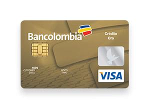 Tarjeta de Crédito Visa Oro: Bancolombia
