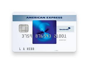 Tarjeta de Crédito American Express Blue: Bancolombia