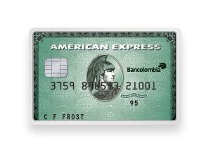 Tarjeta de Crédito American Express Green: Bancolombia