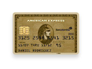 Tarjeta de Crédito American Express Gold: Bancolombia