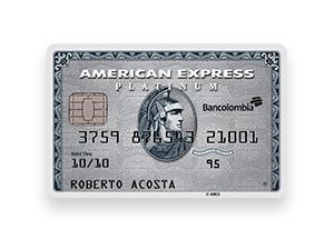 Tarjeta de Crédito American Express Platinum: Bancolombia