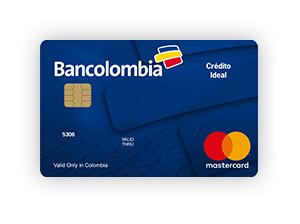 Tarjeta de Crédito MasterCard Ideal: Bancolombia