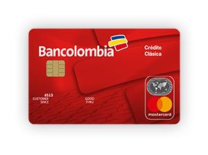 Tarjeta de Crédito MasterCard Clásica: Bancolombia