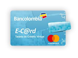 Tarjeta de Crédito MasterCard E-Card: Bancolombia