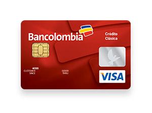 Tarjeta de Crédito Visa Clásica: Bancolombia