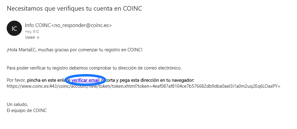 email coinc