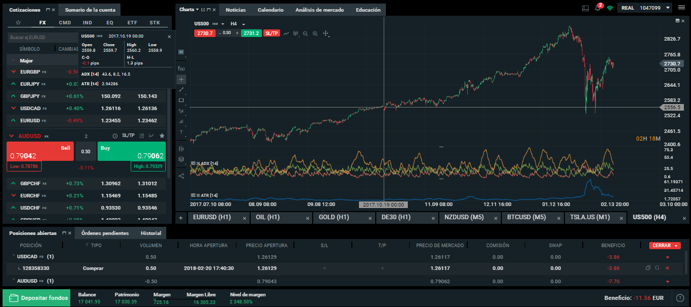 xstation plataforma trading