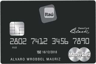 Tarjeta de Crédito MasterCard Black: Banco Itaú