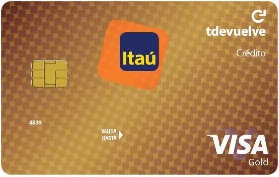 Tarjeta de Crédito Visa Gold Tdevuelve: Banco Itaú