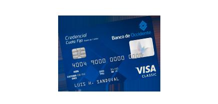 Tarjeta de Crédito Visa Cuota Fija