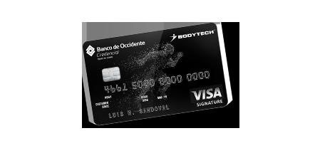 Tarjeta de Crédito Visa Signature Bodytech